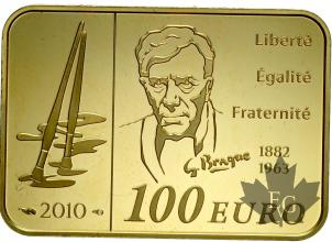 FRANCE-2010-100 EURO-PROOF-GEORGES BRAQUE
