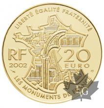 FRANCE-2002-20 EURO OR-MONTMARTRE-PROOF