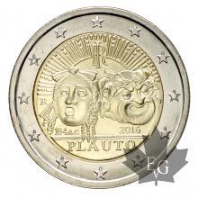 ITALIE-2016-2 EURO COMMEMORATIVE-PLAUTO-FDC
