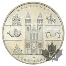 ALLEMAGNE-2005-10 EURO ARGENT-1200 JAHRE MAGDEBURG-FDC