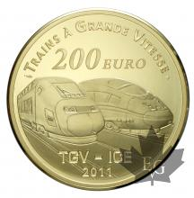 FRANCE-2011-200 EURO OR-TGV GARE DE METZ-PROOF
