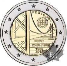 PORTUGAL-2016-2 EURO COMMEMORATIVE-Ponte 25 de Abril-FDC