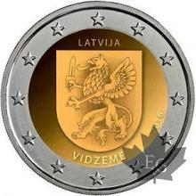 LETTONIE-2016-2 EURO COMMEMORATIVE-Livonia-VIDZEME-FDC