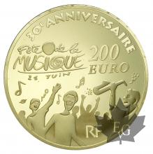 FRANCE-2011-200 EURO OR-FÊTE DE LA MUSIQUE-PROOF