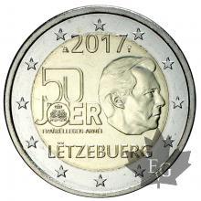 LUXEMBOURG-2017-2 EURO COMMEMORATIVE-FDC