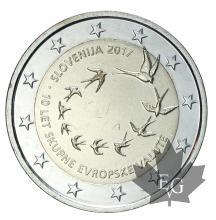 SLOVENIE-2017-2 EURO COMMEMORATIVE-FDC