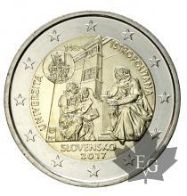 SLOVAQUIE-2017-2 EURO COMMEMORATIVE-FDC
