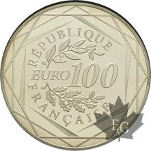 FRANCE-2016-100 EURO ARGENT-COQ-PROOF