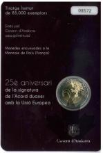 ANDORRE-2015-2 EURO COMMEMORATIVE-accord douanier-BU