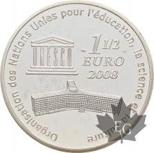 FRANCE-2008-1-Euro-1/2-GRAND-CANYON-PROOF-BE