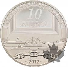 FRANCE-2012-10-Euro-JEANNE D'ARC-Grands-Navires-Français-PROOF