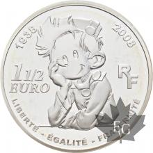 FRANCE-2008-1-EURO-1/2-SPIROU-PROOF-BE