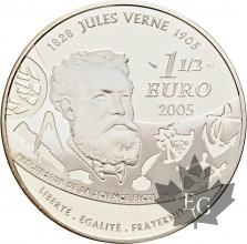 FRANCE-2005-1-Euro-1/2-20 000-Lieus-sous-les-Mers-Verne-PROOF-BE