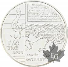 FRANCE-2006-1/4-Euro-MOZART-PROOF-BE