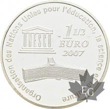 FRANCE-2007-1-Euro-1/2-Grande-Muraille-de-Chine-PROOF-BE