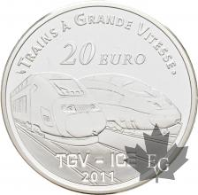 FRANCE-2011-20-Euro-PIEFORT-METZ-TGV-PROOF-BE
