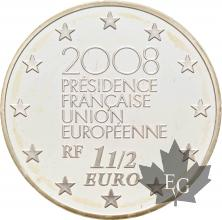 FRANCE-2008-1-Euro-1/2-EUROPA-PROOF-BE