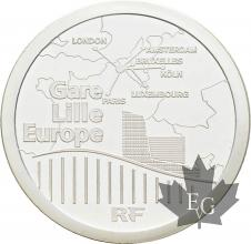 FRANCE-2010-20-Euro-PIEFORT-LILLE-EUROPE-TGV-PROOF-BE