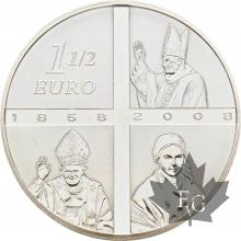 FRANCE-2008-1-Euro-1/2-LOURDES-PROOF-BE