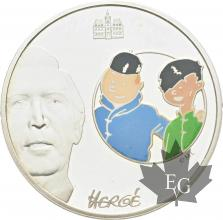 FRANCE-2007-1-Euro-1/2-TINTIN-&-TCHANG-PROOF-BE