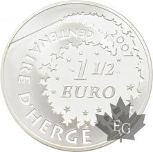 FRANCE-2007-1-Euro-1/12-TINTIN-Professeur-Tournesol-PROOF-BE