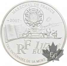 FRANCE-2007-1-Euro-1/2-VAUBAN-PROOF-BE