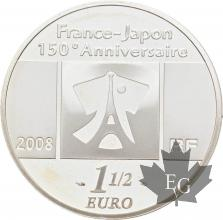 FRANCE-2008-1-Euro-1/2-TABLEAU-FRANCAIS-PROOF-BE