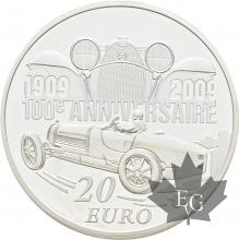 FRANCE-2009-20-Euro-PIEFORT-ETTORE-BUGATTI-PROOF-BE
