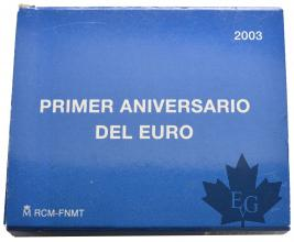 ESPAGNE-2003-10-Euro-8-Reales-RAPTO-DE-EUROPA-PROOF-BE