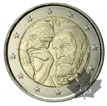 FRANCE-2017-2 EURO COMMEMORATIVE-Auguste Rodin-FDC