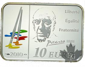 FRANCE-2010 10 EURO ARGENT-PICASSO-PROOF