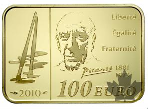 FRANCE-2010-100 EURO OR-PICASSO-PROOF