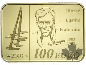 FRANCE-2010-100 EURO OR-Braque-PROOF