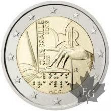 ITALIE-2009-2 EURO Louis Braille
