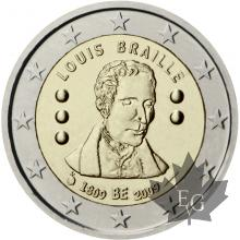 BELGIQUE-2009-2 EURO COMMEMORATIVE-Braille
