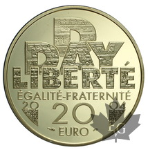 FRANCE-2004-20 EURO OR-PROOF DEBARQUEMENT 6 juin 1944