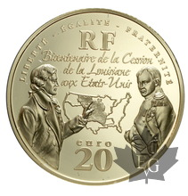 FRANCE-2003-20 EURO OR-VENTE LOUISIANE AUX USA-PROOF