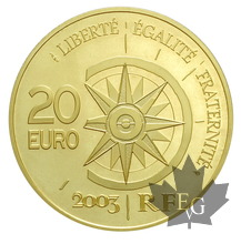 FRANCE-2003-20 EURO OR-VOL PARIS-TOKYO-PROOF