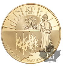 FRANCE-2005-10 EURO OR-BATAILLE D'AUSTERLITZ-PROOF