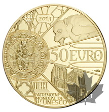 FRANCE-2013-50 EURO OR-NOTRE DAME-PROOF