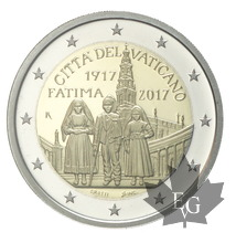 VATICAN-2017-2 EURO-PROOF Centenaire apparitions De Fatima