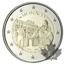 MONACO-2017-2 EURO COMMEMORATIVE-CARABINIERS-PROOF