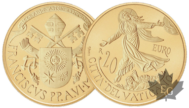 VATICAN-2018-20 EURO OR-PROOF