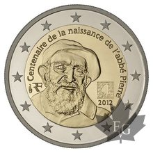 FRANCE-2012-2 EURO COMMEMORATIVE ABBE PIERRE-PROOF