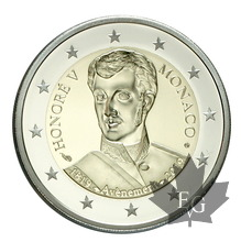 MONACO-2019-2 EURO-Avénement d'Honoré V-PROOF