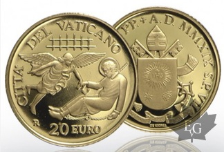 VATICAN-2019-20 & 50 EURO OR-PROOF