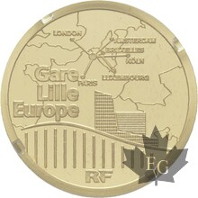 FRANCE-2010-50 EURO OR-TGV LILLE-PROOF