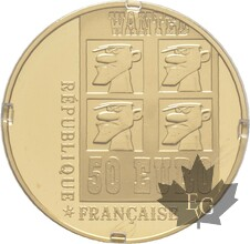 FRANCE-2009-50 EURO OR-LUCKY LUKE-PROOF