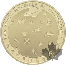 FRANCE-2009-50 EURO OR-ANNEE MONDIALE AUSTRONOMIE-PROOF