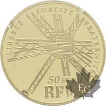 FRANCE-2009-50 EURO OR-GUSTAVE EIFFEL-PROOF